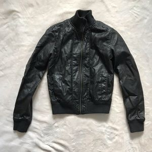 Faux leather jacket size Small